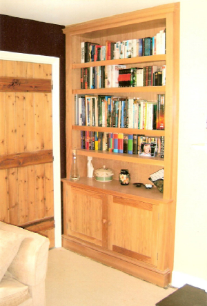 Fitted Oak Bookcase