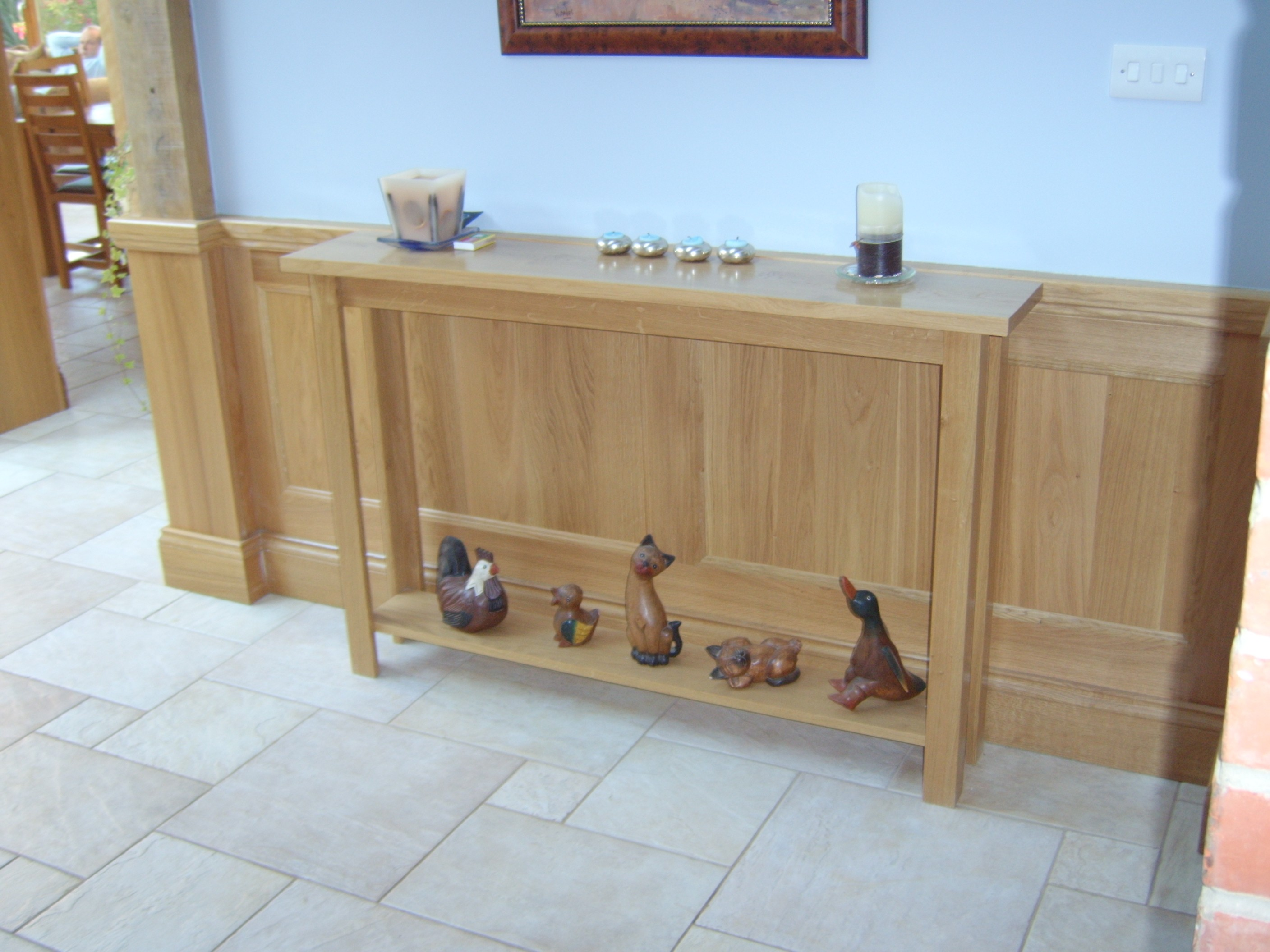 Console Table and Panelling